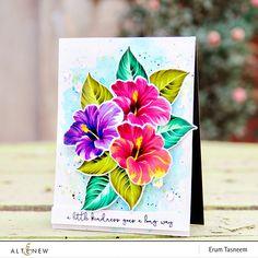 *VIBGYOR Krafts*: Altenew: Build-A-Flower: Hibiscus + Giveaway