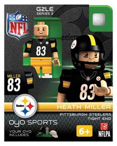 #83 Heath Miller Pittsburgh Steelers Tight End-Limited Edition OYO minifigure