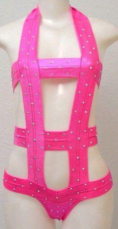 Sexy exotic stripper pole dancewear Women one pc set w/Rhinestones Foil Spray | Clothing, Shoes & Accessories, Dancewear, Adult Dancewear | eBay!