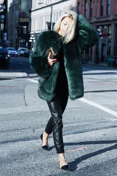Vanessa Hong of The Haute Pursuit on Her New Faux Fur Coats | StyleCaster