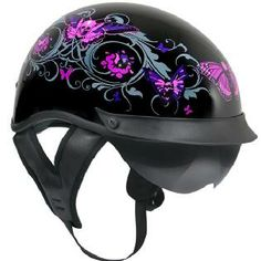 I like the Dual-Visor feature of motorcycle helmets (like this one)... I'm indifferent about the flowers and pink skull butterflies...
