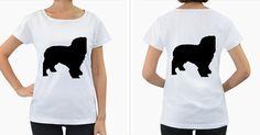 Spanish+Water+Dog+Silho+Women's+Loose-Fit+T-Shirt+(White)
