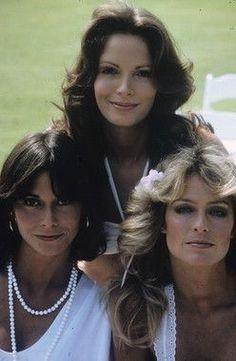 Charly's Angels TV serie. Heldinnen voor jonge meiden. En style iconen! Volgens mij hebben ze later ruzie gekregen (in het echt)