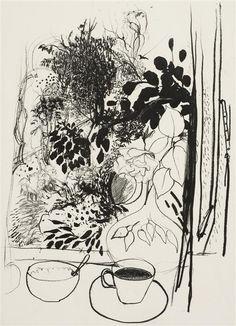 yama-bato:  BRETT WHITELEY (1939-1992) - View of the Garden, 197767.0 x 47.0cm