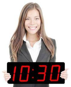 "Digital Wall Clock - Huge 5"" Numeral Classic Digital LED Wall/ Desk Clock"