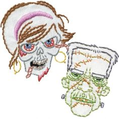 Monsters and Zombies Embroidery