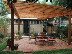 to Build a Wood Pergola DIY Pergola -- A lot cheaper than buying the whole thing and can personalize along the way.DIY Pergola -- A lot cheaper than buying the whole thing and can personalize along the way. Diy Pergola, Free Pergola Plans, Free Standing Pergola, Building A Pergola, Wood Pergola, Pergola Canopy, Outdoor Pergola, Backyard Patio, Outdoor Decor