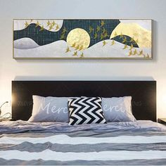 Original Flying birds Abstract painting Acrylic Painting On Canvas Wall Art home Decor modern art For Living Room cuadros abstractos - - Bird Paintings On Canvas, Bird Painting Acrylic, Large Painting, Painting Frames, Canvas Wall Art, Acrylic Paintings, Acrylic Art, Framed Canvas, Gold Art