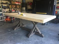 Farmhouse Table Build - Frills and Drills