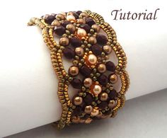 Tutorial+Maroon+Bracelet++Instant+download+PDF+by+Ellad2+on+Etsy,+$6.50