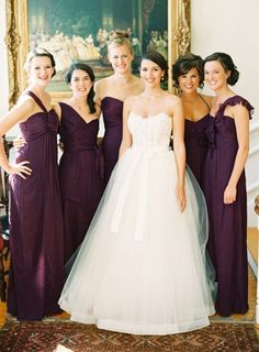 Aubergine wedding colors