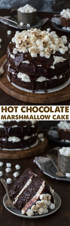 Hot Chocolate Cake Makes 8 inch cakes