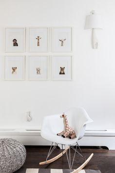 Dormitorio de bebe con mecedora EAMES BABY