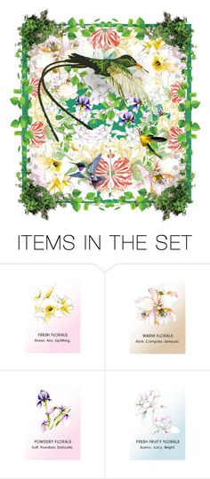 """Hummingbird's Garden"" by bb60477 ❤ liked on Polyvore featuring art"