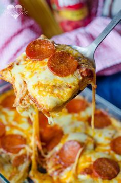 Super-yummy, fast and easy, this spaghetti pizza bake meal will be a favorite among your friends and family. Make this dish to feed the crowd on game day this fall!
