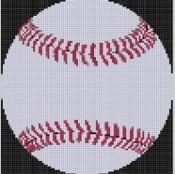 Baseball 2 Cross Stitch Pattern - via @Craftsy