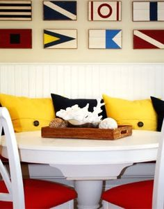 Maritime Signal Flag Art As Wall Decor..signalflags via porterdesigncompany