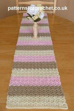 Neapolitan Table Runner ~ Patterns For Crochet
