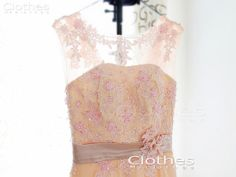 Custom Made Aline Lace Prom Dress Long Bridesmaid by MsClothes, $176.00