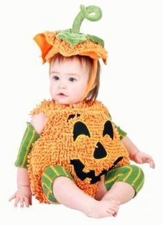 ## VERY Cute ##: Happy Halloween Pumpkin Infant Costume 12/18 Months