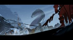 'The Banner Saga' is a gorgeous, but ultimately flawed, strategy game. Banner Saga, Shadow Creatures, Saga Art, Underwater City, Chinese Mythology, Board Game Design, Fantasy Story, Story Inspiration, Art Direction