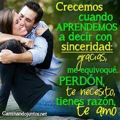 #caminandojuntos #matrimonio #frasepara2 #sinceridsd #gracias #perdón #teamo #frase #quote www.caminandojuntos.net