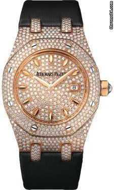 Audemars Piguet Royal Oak Diamond 18 kt Rose Gold Ladies