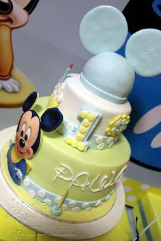 Baby Mickey Mouse Birthday Cake