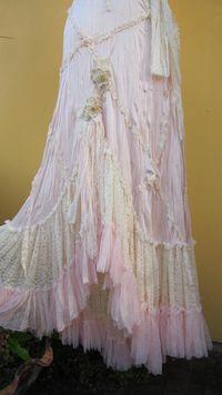 vintage inspired soft pink crushed slip dress.....moonlight and roses..... $145.00, via Etsy.