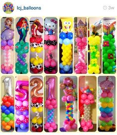 great balloon columns.                                                                                                                                                                                 More Balloon Pillars, Balloon Tower, Balloon Stands, Balloon Arch, Birthday Balloon Decorations, Balloon Crafts, Diy Party Decorations, Birthday Balloons, Boy Birthday Parties