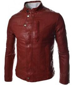 2015 High Quality Motorcycle Leather Jacket Men Slim Fit Cheap Mens Jackets And Coats Chaqueta Cuero Hombre Black/Red/Army Green Cool Jackets For Men, Leather Jackets For Sale, Slim Fit Jackets, Types Of Jackets, Faux Leather Jackets, Men's Jackets, Cheap Jackets, Outerwear Jackets, Winter Jackets