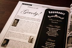 Troukoors Trou Koerantjie - An interesting feature about the bridal party and the wedding menu was also included. Wedding Newspaper, Wedding Menu, Favors, Weddings, Bridal, Words, Party, Presents, Bride