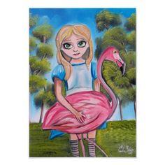 http://www.zazzle.com/alice_with_a_flamingo_poster-228025095215059501?rf=238169619599789519