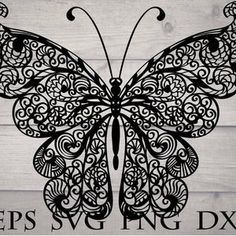 Mandala butterfly svg zentangle | Etsy Butterfly Mandala, Butterfly Clip Art, Cricut Svg Files Free, Largest Butterfly, Flower Svg, All Flowers, Paper Flowers, Mandala Drawing, Mandala Pattern