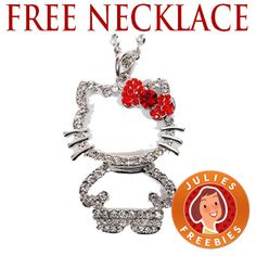 Free Hello Kitty Rhinestone Necklace