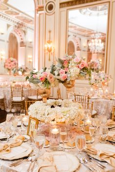 Ballroom Wedding Receptions Are Perfect In Gold C Decorations Centerpieces Colors