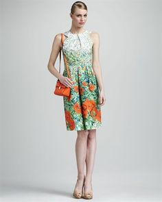 This dress is great for a shower or garden party.  #amyesperstyling