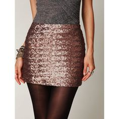 Sequined bodycon skirt Dark gold sequin bodycon skirt. Zips up from the side and looks great except for tiny part on the back with a few missing sequins (pictured) WINDSOR Skirts Mini