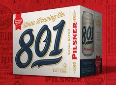 Uinta Brewing Co. 801 Pilsner 12oz. Can 12-Pack - designed by Emrich Office