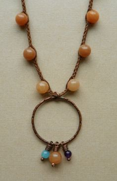 Beaded Linen Necklace