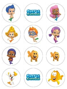 Bubble Guppies Edible Cupcake or Cookie toppers 12 different edible images bubble guppies birthday party. $6.50, via Etsy.