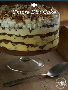 Dig in to my Summer classic - S'more Dirt Cake! #smores #nobake #recipe