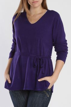 Carol Rose Jenna Sweater In Cobalt - Beyond the Rack