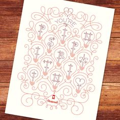"""""""You're My Pinspiration"""" Poster by Jessica Hische #Poster #Pinterest"""