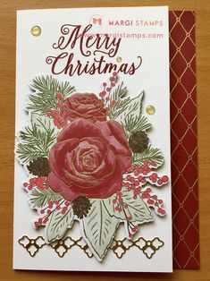 This gorgeous image is die cut from one of the DSP sheets. Easy peasy and perfect for a quick but stunning card.