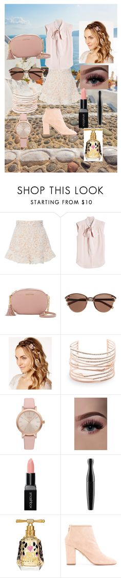 """""""Pink Vacation"""" by hdjmullenax ❤ liked on Polyvore featuring Tome, MaxMara, MICHAEL Michael Kors, Witchery, Josette, Alexis Bittar, Vivani, Smashbox, MAC Cosmetics and Juicy Couture"""