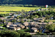 """Andong Hahoe Village, Korea - photo from Korea Tourism Organization;  This is a 500-year-old traditional Korean village from the Joseon Dynasty.  """"Andong is no tourist trap; it's a living, breathing village and home to a people fiercely proud of their heritage and way of life.""""  It is a UNESCO World Heritage site that  """"preserves Joseon period-style architecture, folk traditions, valuable books, and old tradition of clan-based villages."""" The Joseon period began in 1392."""