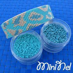 Manchette en perles Miyuki Delicas