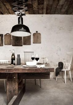 Rustic industrial restaurant Copenhagen Denmark beautiful interior design