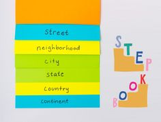 here's a great idea - make a step book to help kids understand the scale of where they live